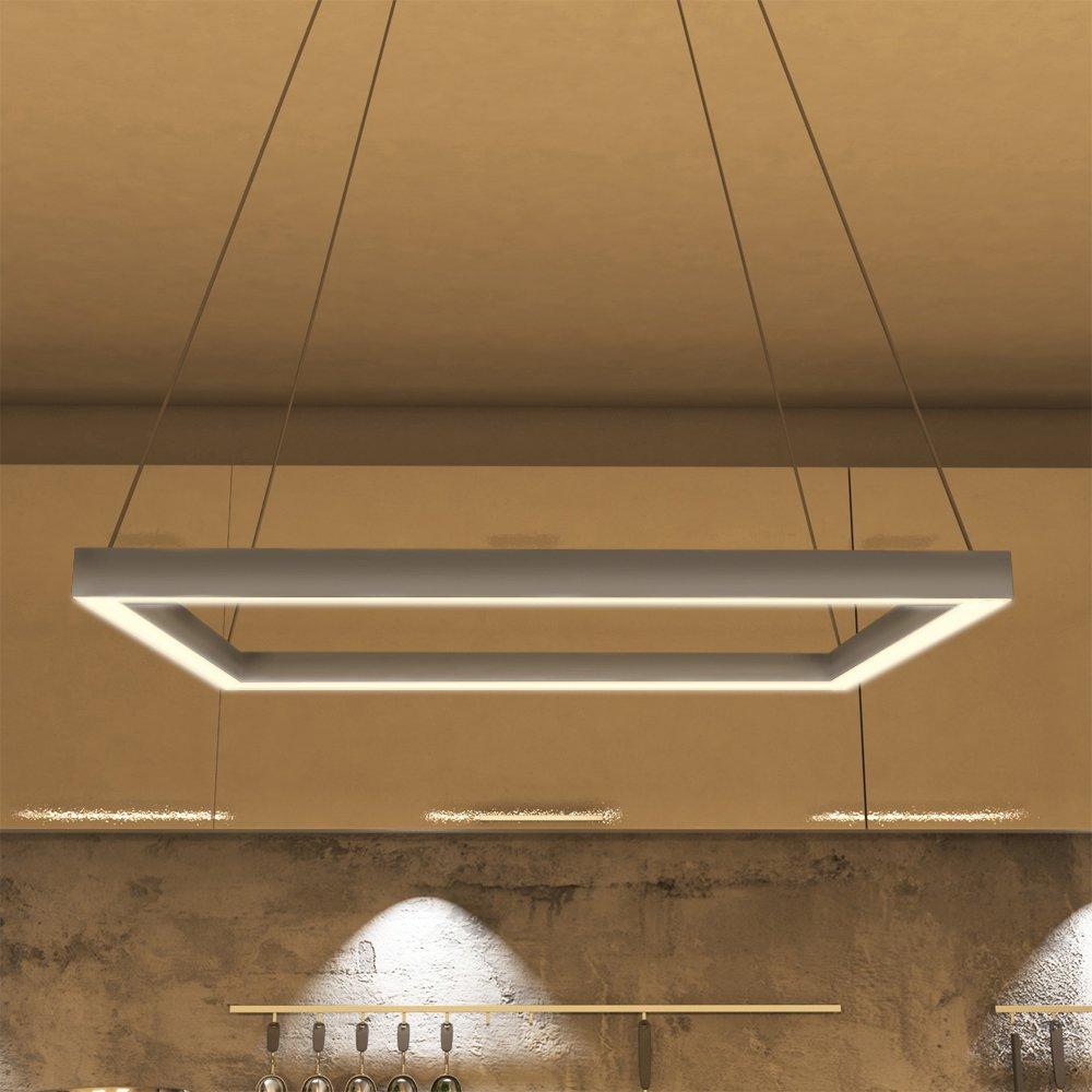 lighting modern design. VONN VMC31620AL Modern Square LED Chandelier Lighting With Adjustable Hanging Light, Silver - Amazon.com Design