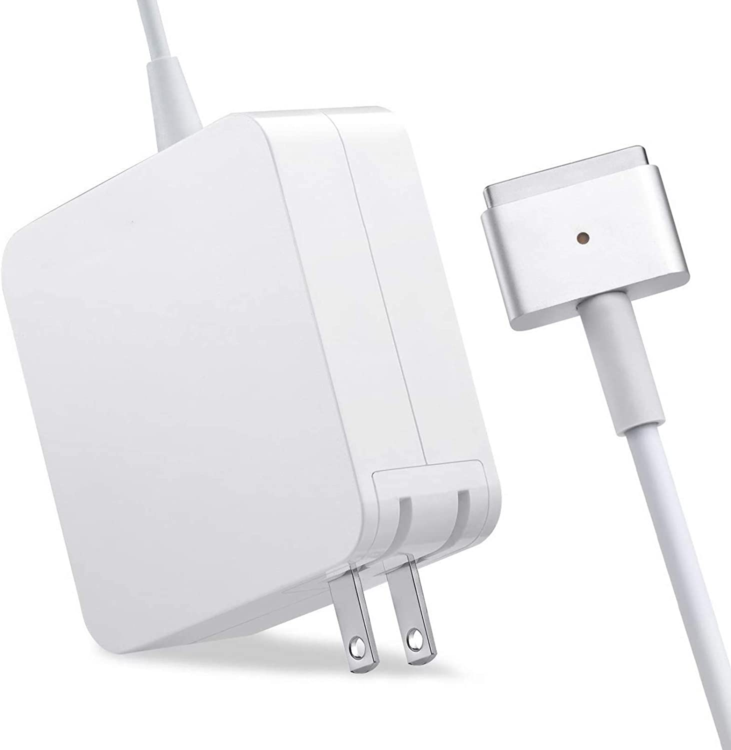 MacBook Air Charger, [Apple MFi Certified] with Charging Ports Power Adapter 45W Fast Charging Cable for MacBook Air Notebook Computer Charger Cord (T-tip) Shape Power Adapter Accessories-White
