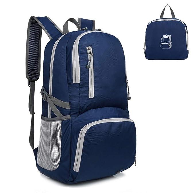 f2d33a49e5ff Amazon.com : Oactvt 30L Backpack Daypack Lightweight Foldable Bag ...