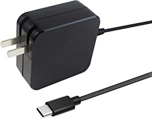 Feppery 20V 2.25A 45W USB Type C Wall Charger with Power Delivery Laptop Fast Charging Adapter Built-in 6ft Type C Cable for MacBook Pro ,Lenovo ThinkPad T480 T480s T580 T580s