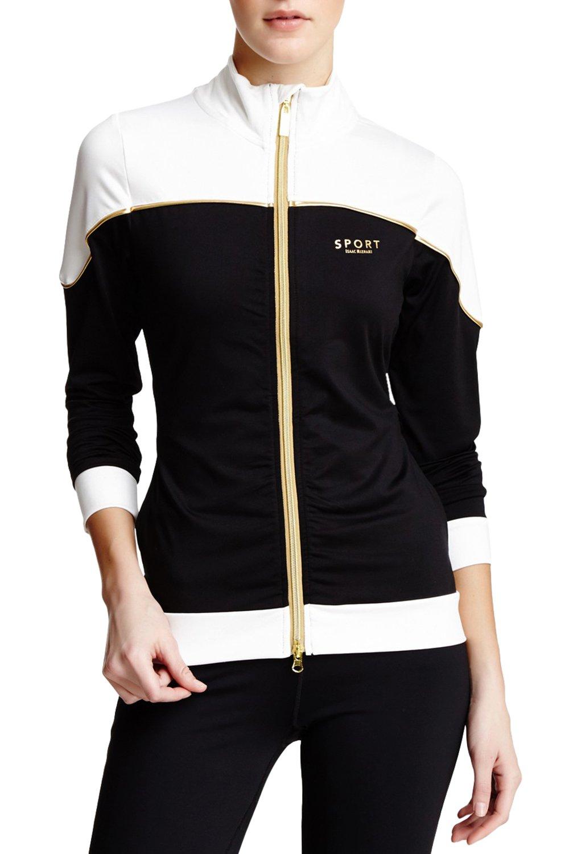 Isaac Mizrahi Sport Two Tone Track Jacket
