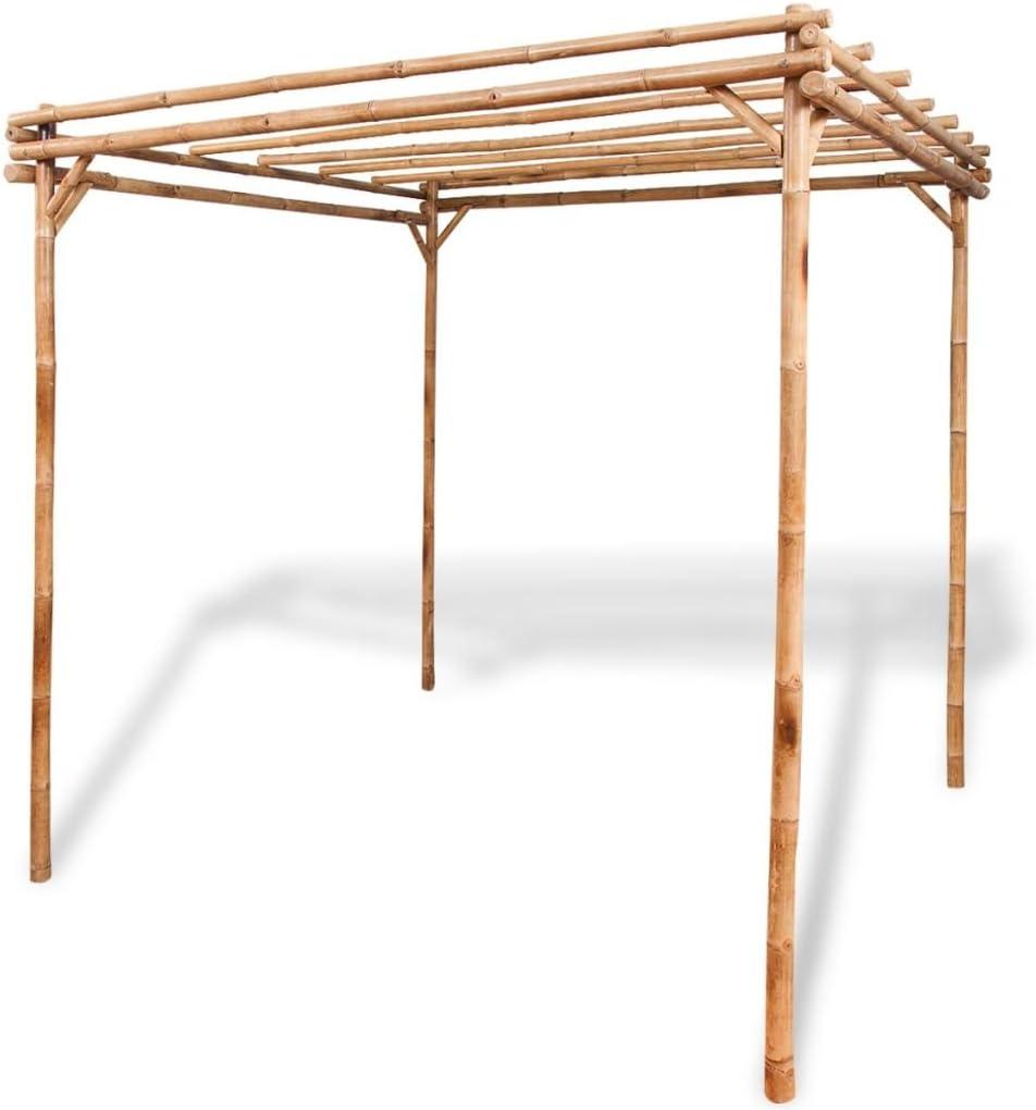 Festnight, Pérgola de jardín exterior de bambú 195 x 195 x 195 cm ...