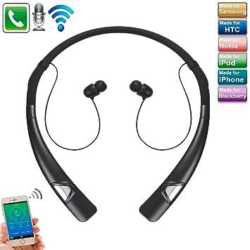 Auriculares Bluetooth para iPhone X, TechCode Auriculares inalámbricos para banda para el cuello Auriculares estéreo