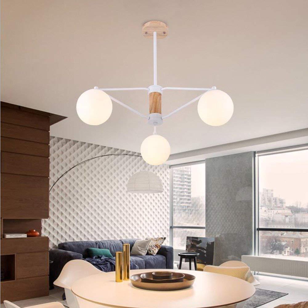 Luhen ceiling chandelier chandelier simple creative nordic wooden glass chandelier for living room dining room bedroom clothing store interior lighting