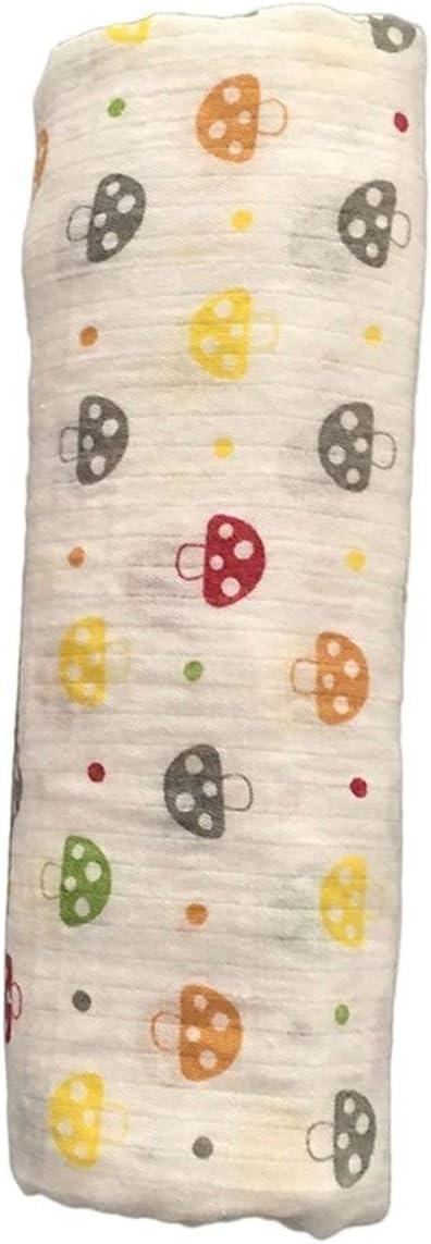 multicolore FRjasnyfall 120x120cm mousseline couverture b/éb/é langes coton 100/% nouveau-n/é b/éb/é serviette de bain Swaddle couvertures Multi Designs Fonctions