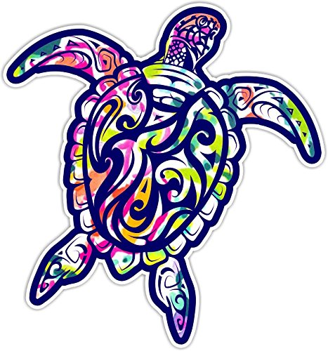 Sea Turtle V3 Car Truck Window Laptop Vinyl Decal Sticker