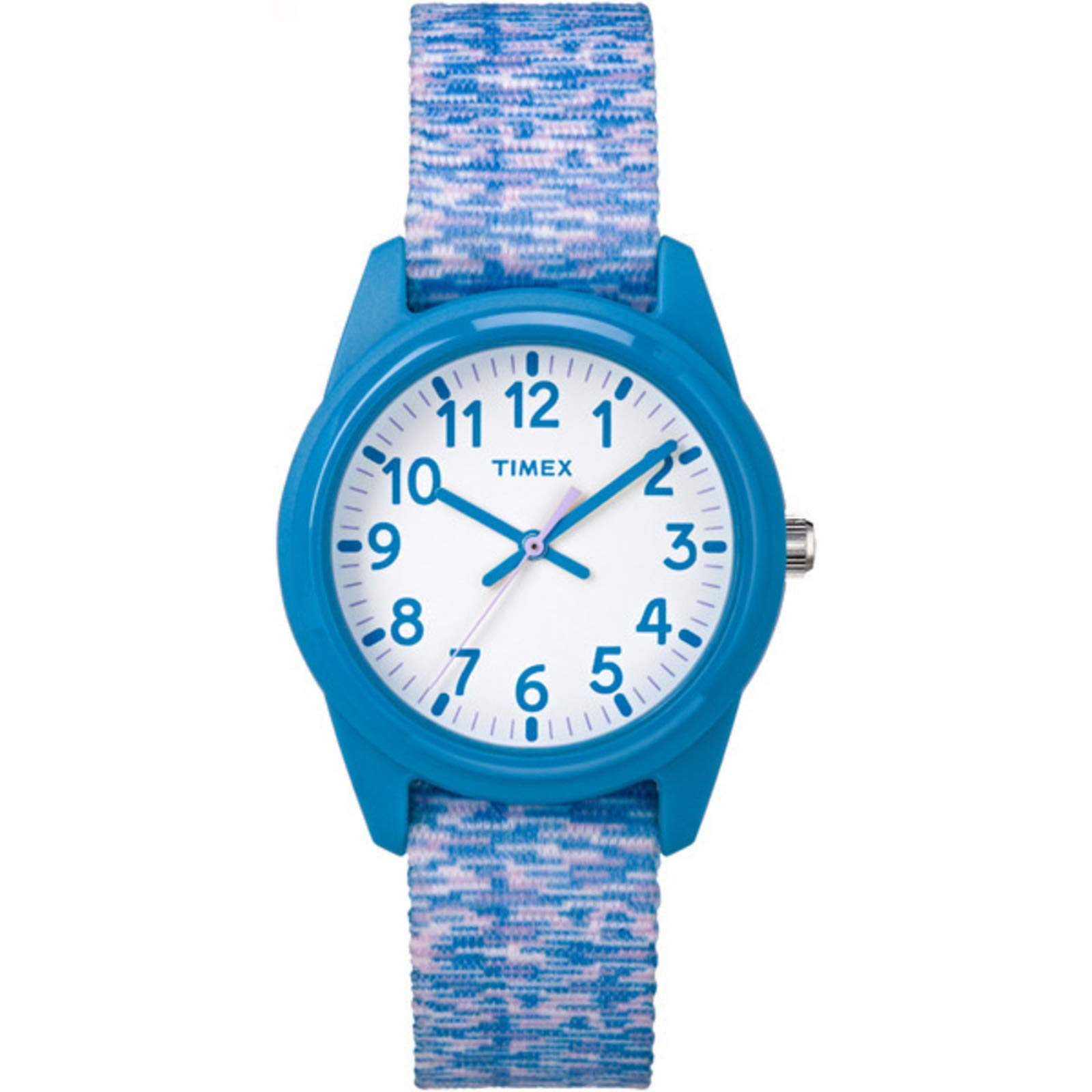 Timex Kids Analog 32mm Fabric Strap  Blue  Pattern Youth Watch TW7C12100 by Timex