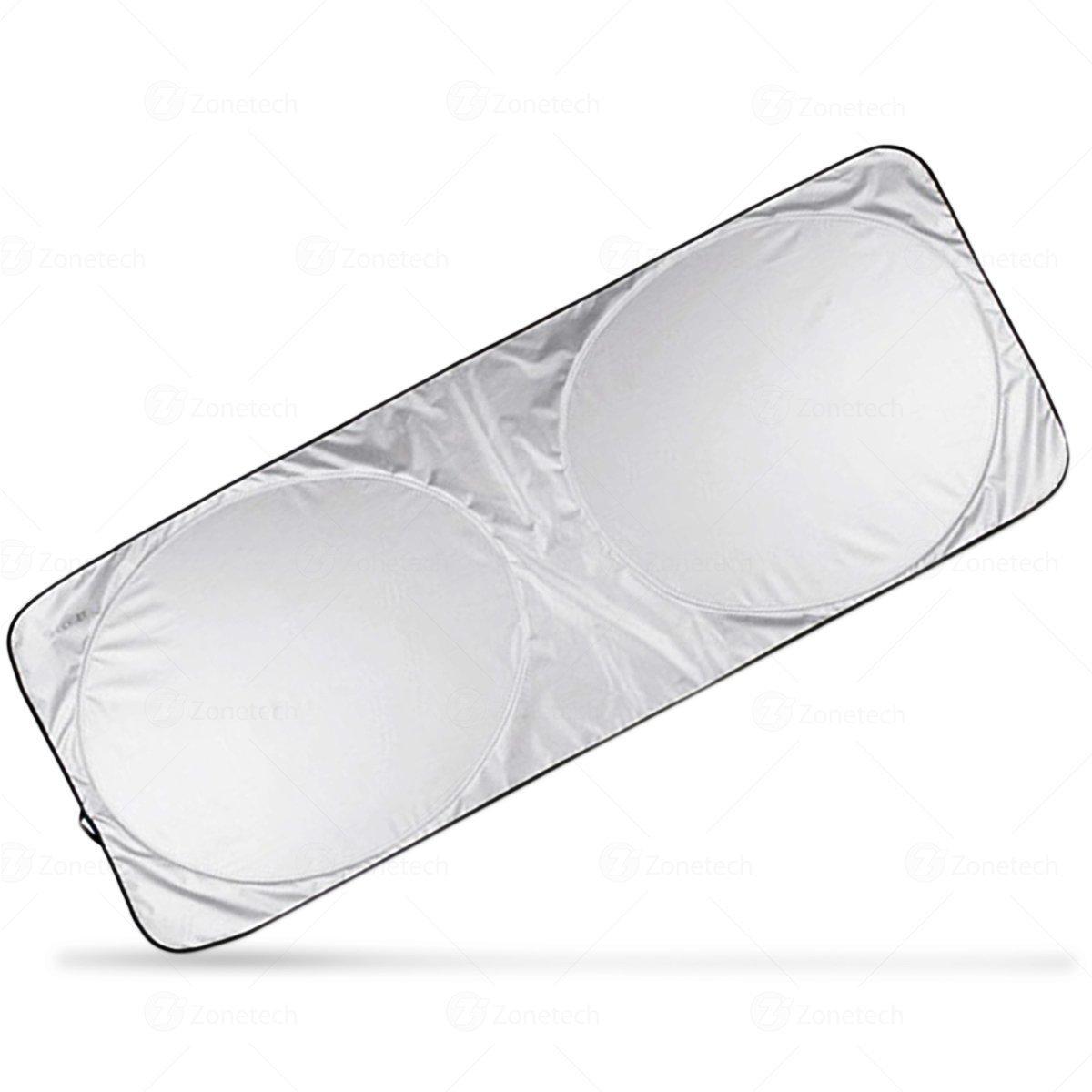 Car Windshield Sun Shades Protector- Zone Tech Nylon Windshield Magic Sunshade - Premium Quality Super Jumbo Nylon Reflective Car Magic Sunshade