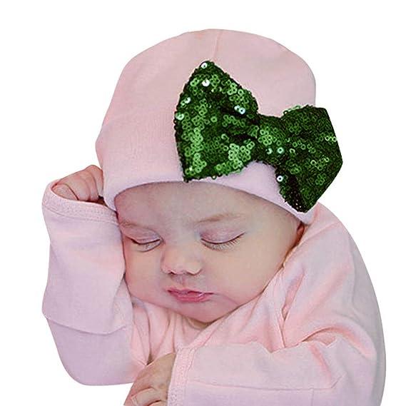 BBsmile Sombrero de bebé Otoño Bebé recién Nacido Sombrero Gorra Niños Lentejuelas Sombrero Bowknot Sombreros Gorras