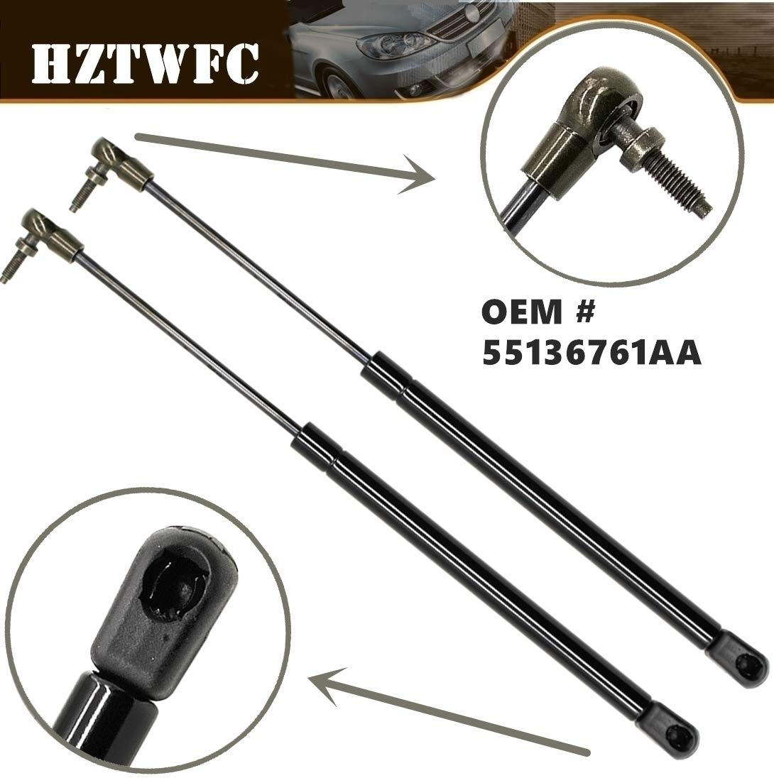 HZTWFC 2 Pcs Rear Window Glass Gas Struts Compatible for Jeep Grand Cherokee WJ WG 99-04 OEM # 55136965AA 55136761AA