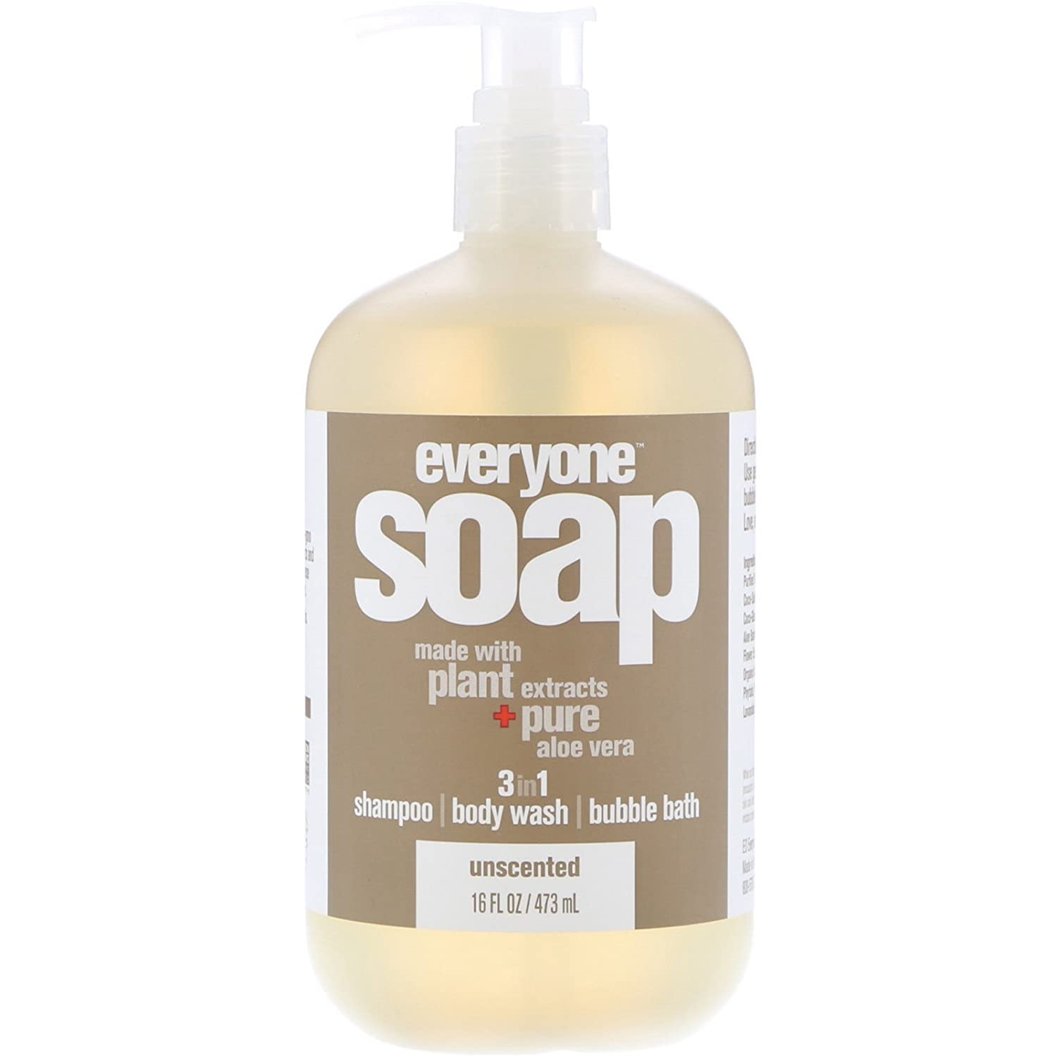 Everyone Soap Unscented, 16 oz