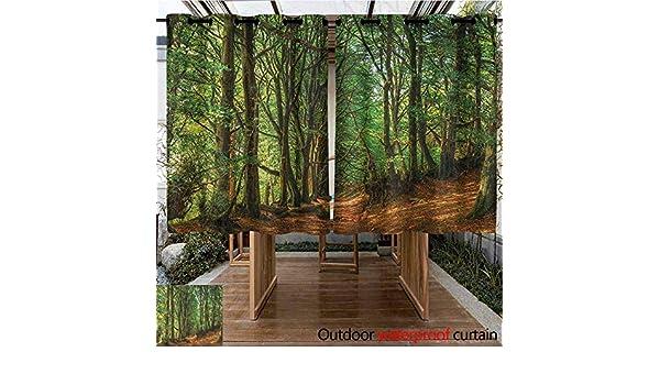 AndyTours Cortina de puerta corredera, madera, bosque de invierno ...