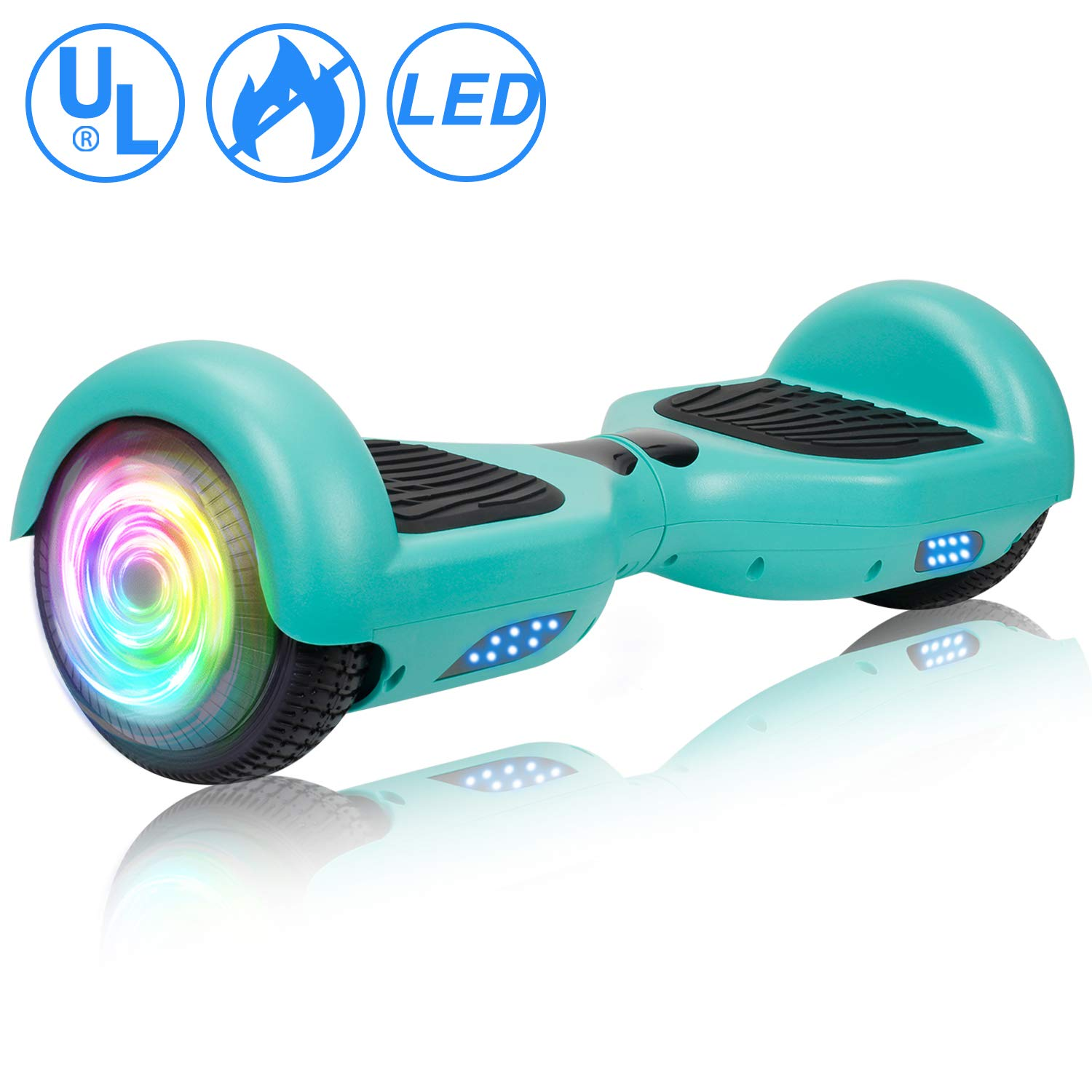 SISIGAD Hoverboard, Self Balancing Hoverboard, 6.5 Two-Wheel Self Balancing Scooter, Smart Hover Board for Kids Gift, Adult Electric Scooter, UL 2272 Certified – Pure Color Series No Bluetooth