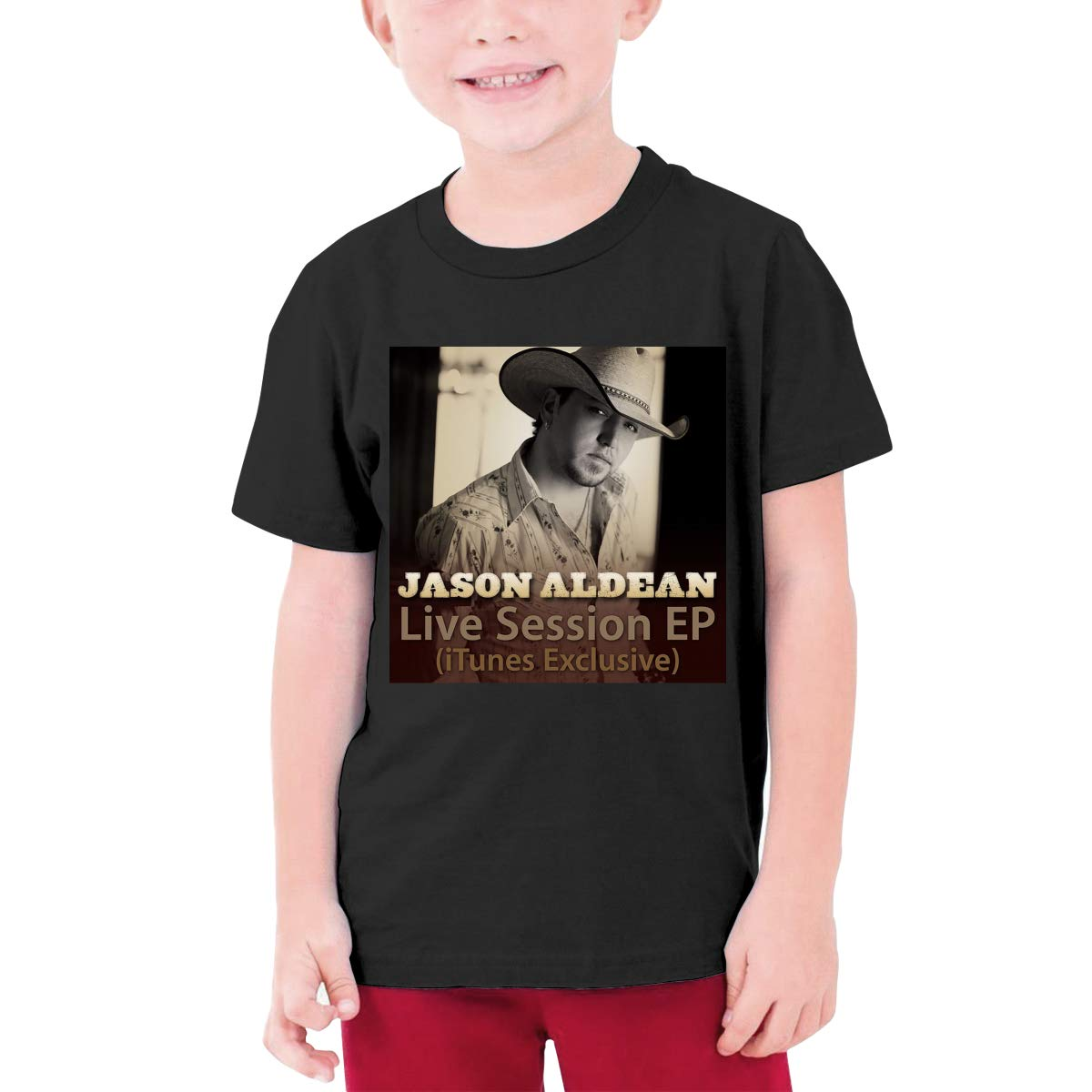 Kangtians Boys Jason Aldean T-Shirt Childrens Short Sleeve Shirt