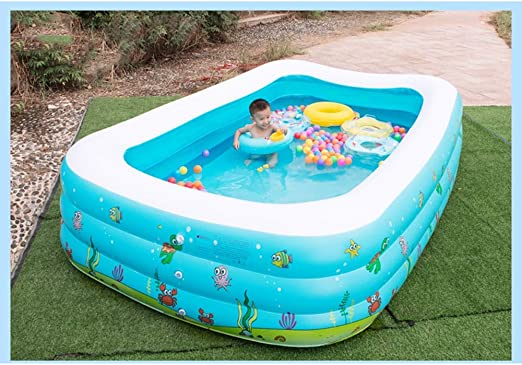 LSX LIUSIXIAO-Piscina Piscina Inflable for niños casa Grande for ...