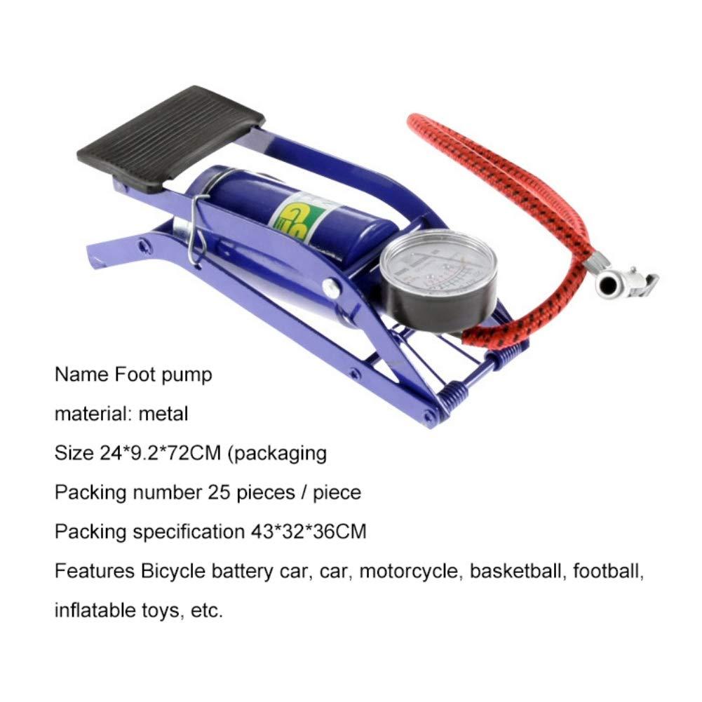 Leezo Fahrradpumpen Inflator Auto Pumpe Fu/ßpedal Typ Hochdruck Luftpumpe f/ür Motorrad Fahrrad oder Andere aufblasbare Objekte