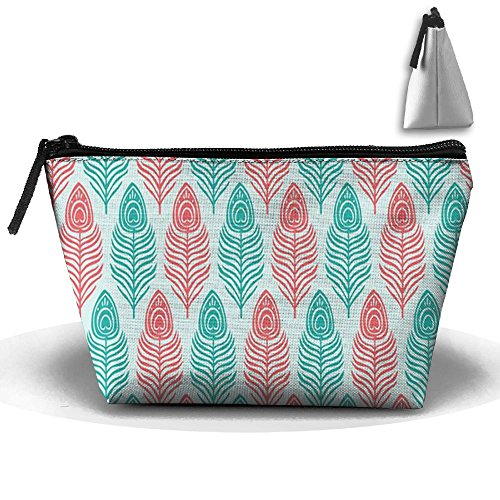 Bxsnd Art Peacock Unisex Oxford Cosmetic Bag Personalized Juniors Makeup Bag Creative Pencil Case
