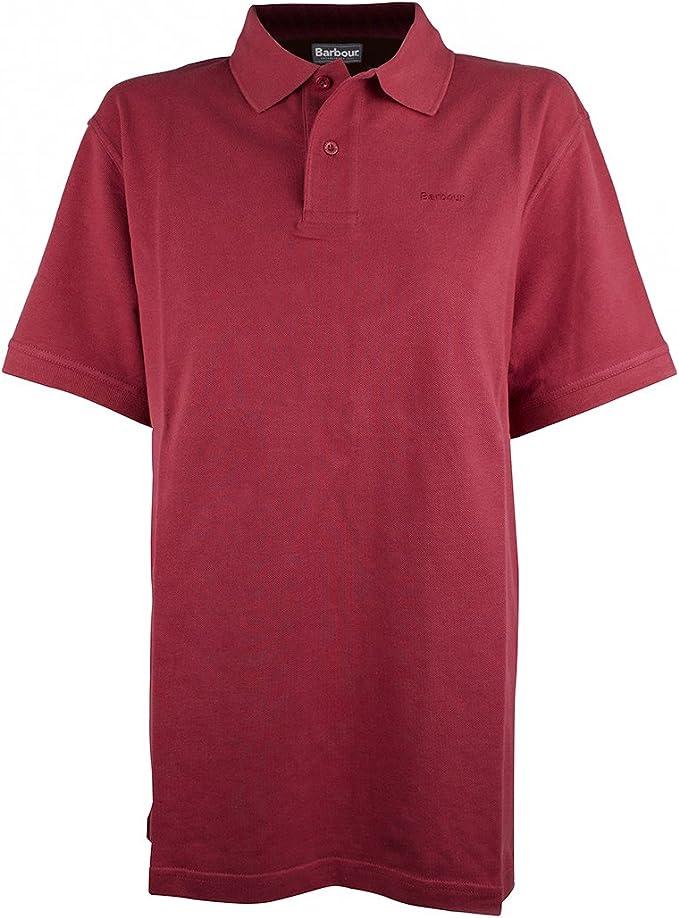 Barbour - Polo para Hombre, Color Rojo, Talla L: Amazon.es: Ropa ...