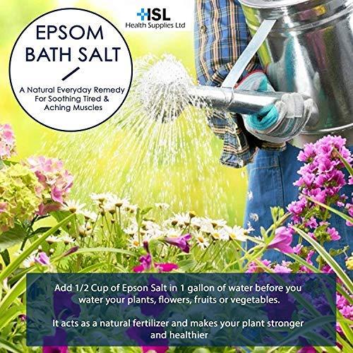 HSL Sales de Epsom, sales de baño de sulfato de magnesio, 3 kg: Amazon.es: Belleza