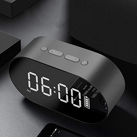 NUOCAI Altavoz Bluetooth, Mini Pantalla LED, Mesa Digital, Reloj ...