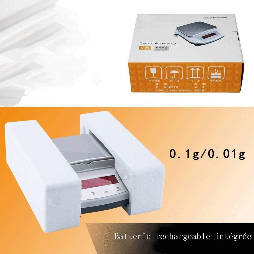 HJBH Balanza electrónica de Laboratorio 0.01g balanza electrónica ...