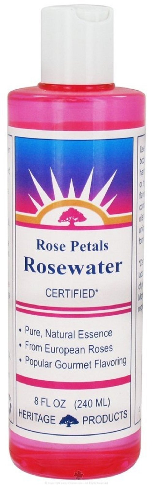 Heritage Products Rose Water, 8 Ounce -- 6 per case.