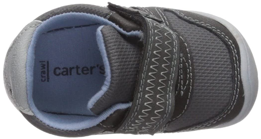 Carters Every Step Boys Stage 1 Crawl Grey Jamison-CB Sneaker 2.5 M US 6-9 Months