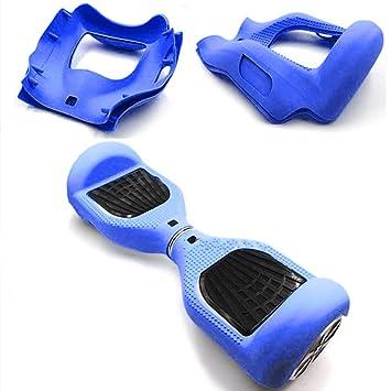 Carcasa de silicona para patinete eléctrico inteligente de equilibrio de 2 ruedas de 16.5 cm (6.5 pulgadas) Hover board, azul claro