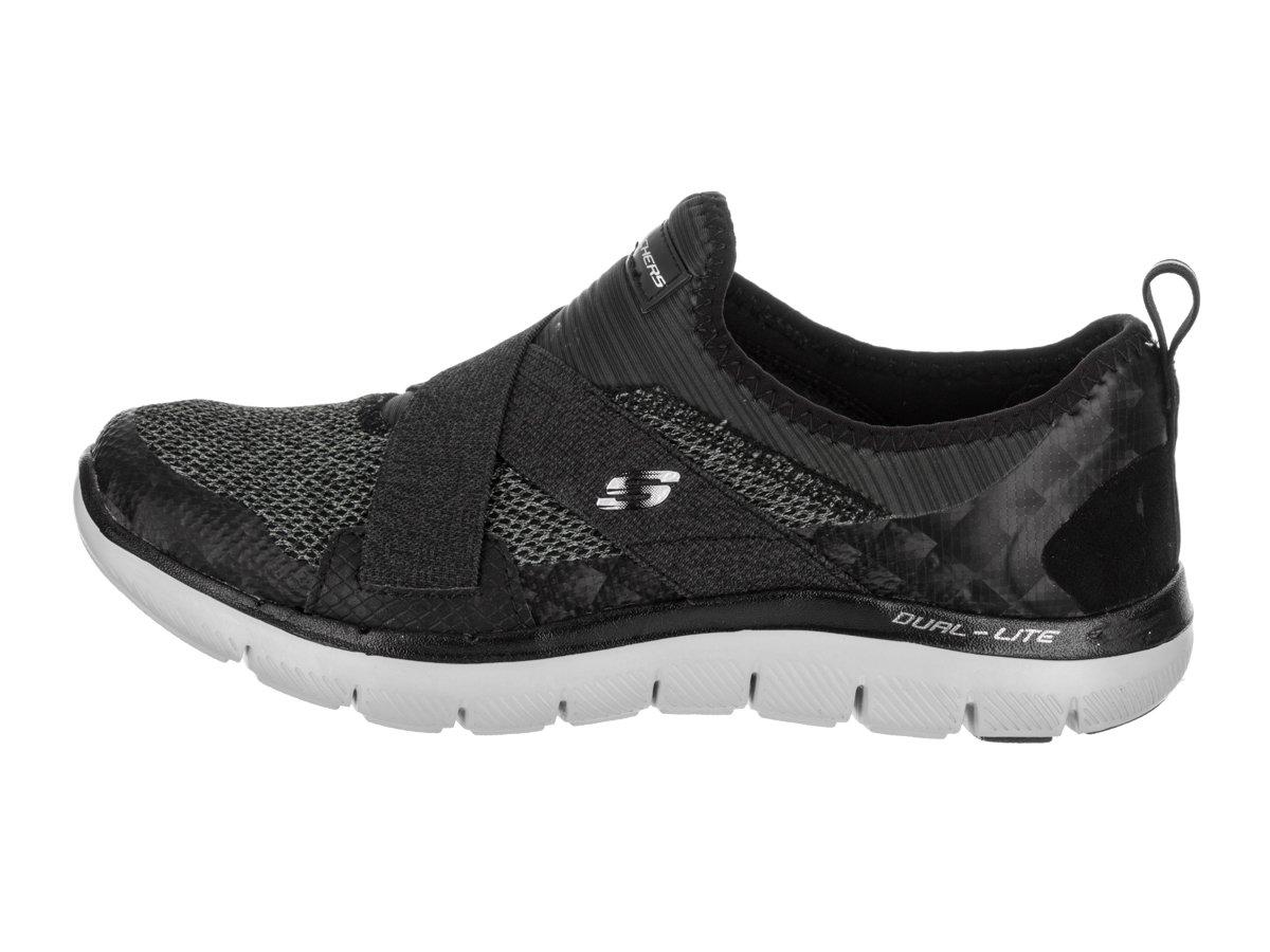 Skechers Women's Flex Appeal 8.5 New Image Sneaker B01EOS1QRO 8.5 Appeal B(M) US|Black/Grey 13023f