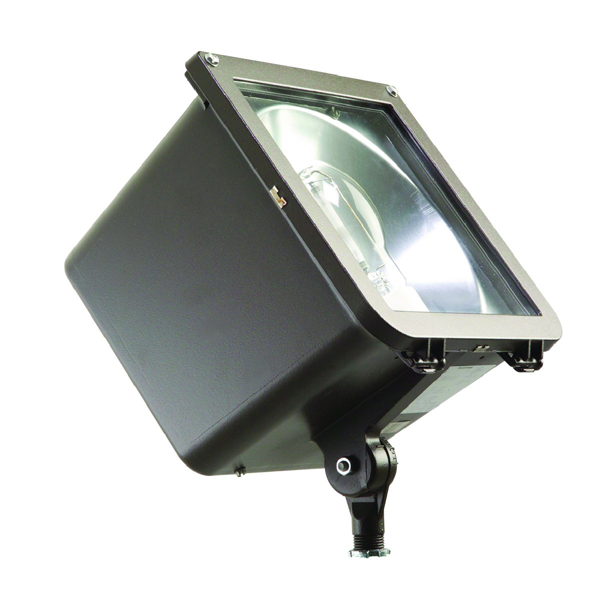 Hubbell Outdoor MIC-0150P-338 Microliter Compact 150W PS Quad-Tap Narrow Beam Floodlight with Lamp, Dark Bronze