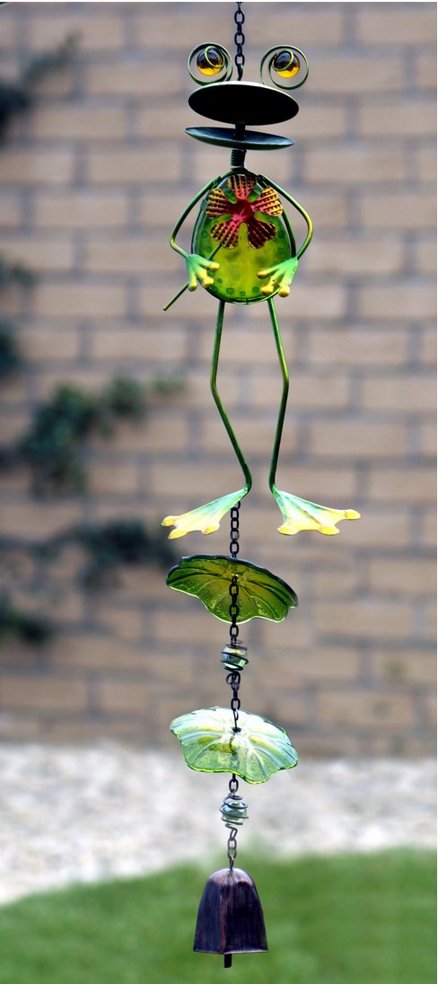 Greenkey Fun Frog with Wind Bell