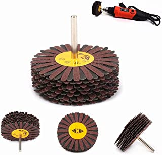 80mm Emery Cloth Wheel Grinding For Polishing The Shoe Material Furniture Rotary Tools 6MM Shank 180#