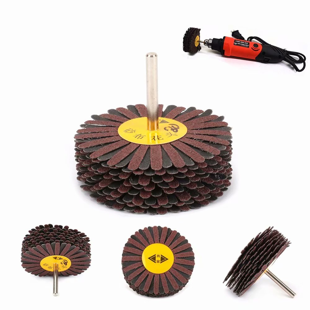 80mm Emery Cloth Wheel Grinding For Polishing The Shoe Material Furniture Rotary Tools 6MM Shank 240#