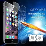 iPhone 6 Screen Protector, AOBILE(TM) [Tempered Glass] Full Front iPhone 6 Screen Protector Titanium Tempered Glass Alloy Arc Edge Built-in Tempered Glass Body Sticker Seamless Fit Not Scratch Hands (Clear for iPhone 6)