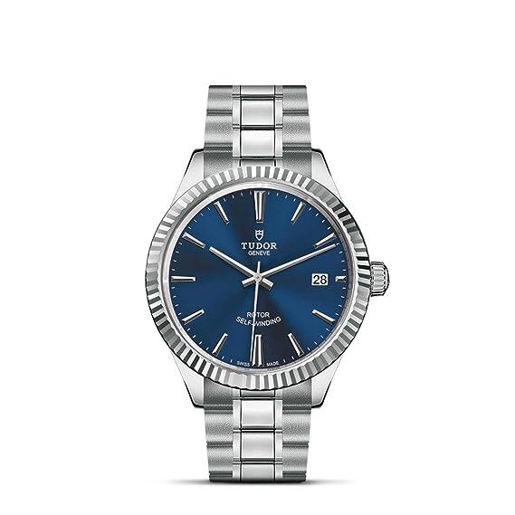Tudor Style Reloj Unisex Diamante automático 38mm Correa de Acero M12510-0013: Amazon.es: Relojes