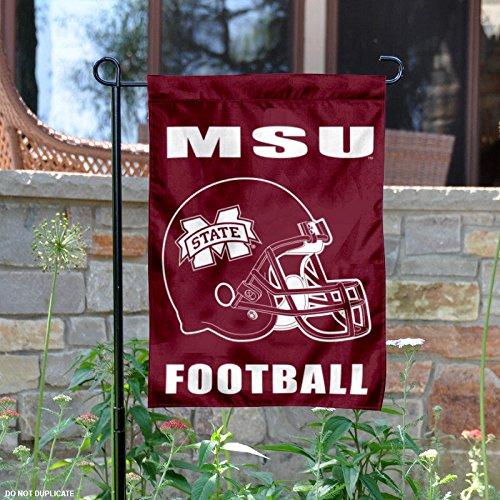 Mississippi State Bulldogs Football Helmet Garden Flag (Helmet State Mississippi)