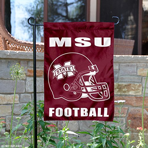 Mississippi State Bulldogs Football Helmet Garden Flag (Helmet Mississippi State)