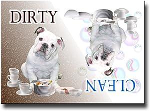 Wag Whimsy English Bulldog Clean Dirty Dishwasher Magnet No 3 Puppy