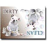 English Bulldog Clean Dirty Dishwasher Magnet No 3 Puppy