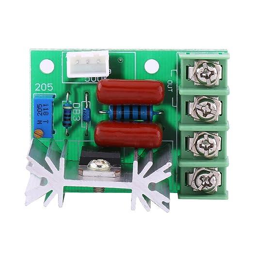 CA 50-220V 2000W SCR Regulador de Voltaje Eléctrico Regulador de Velocidad del Motor Regulador de Luz Temperatura: Amazon.es: Industria, empresas y ciencia