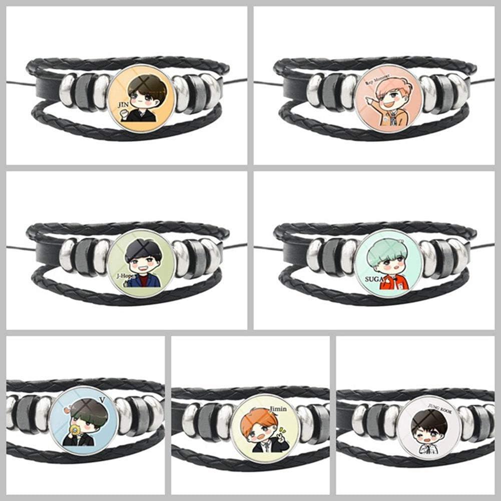 H15 Yovvin Kpop BTS Bangtan Boys Bracelet Alliage Bracelet Verre Gemme Cadeau pour A.R.M.Y