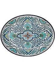 "Certified International 20290 Talavera Melamine 18"" x 13.5"" Oval Platter, Multicolor"