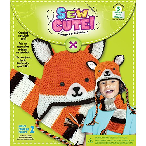 Colorbok Sew Cute Crochet Fox Hat and Scarf by Colorbok