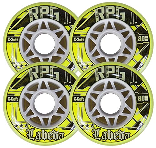 - Labeda Wheels Inline Roller Hockey RPG Gripper 72mm 74a X-Soft 4-Pack Skate