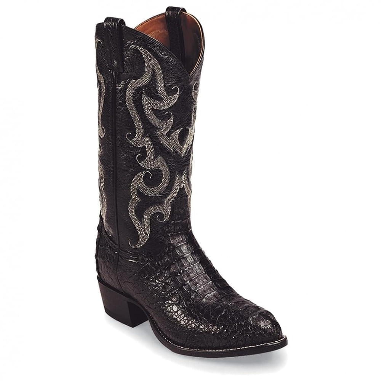 Tony Lama Men's Royal Hornback Caiman Exotic Cowboy Boot Round Toe - Cz1008