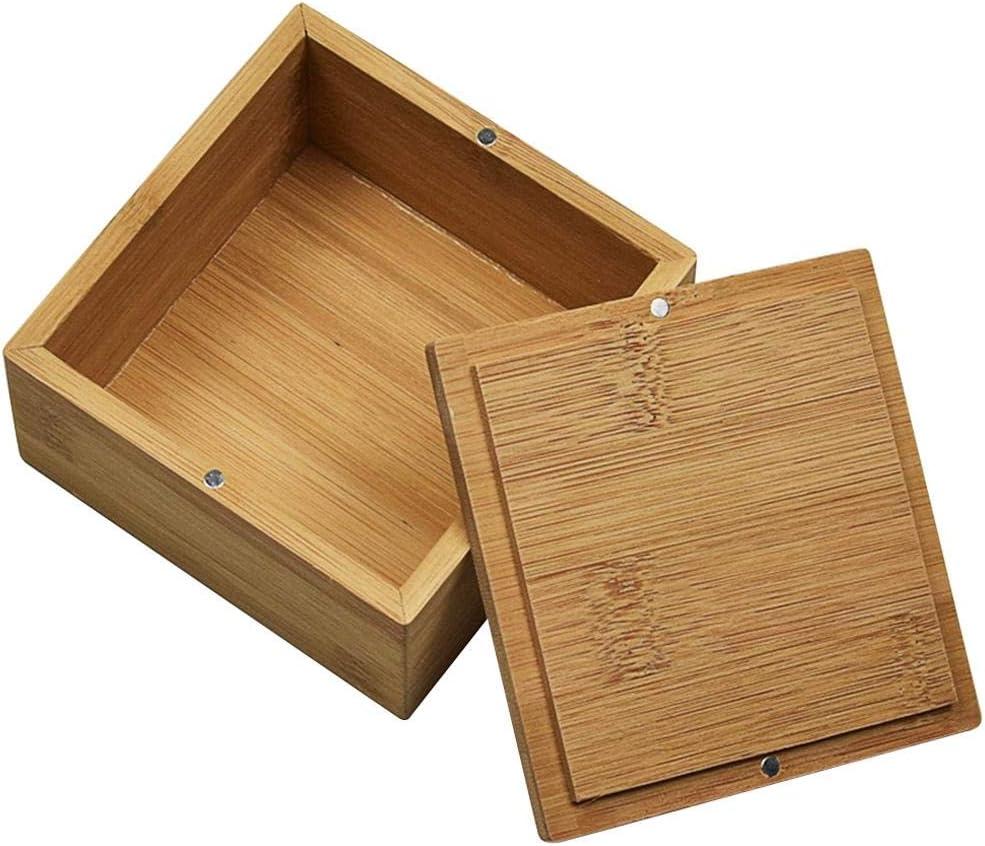 Eventualx Caja de Madera para Joyas, Cuadrada, de bambú, para ...