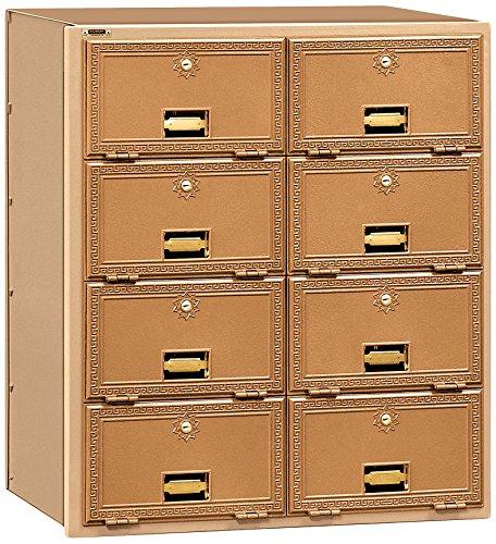 Salsbury Industries 2008RL  Mailbox, 8 Doors, Rear Loading, Brass