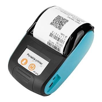 Tonysa Portátil Mini Impresora Tickets Térmica Bluetooth Inalámbrico USB, Impresora 50-89.9mm /s Impresora Térmica Bluetooth Práctica 58mm para ...