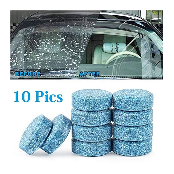 NexStar 10PCS/1Set Car Wiper Detergent Effervescent Tablets Washer Auto Windshield Cleaner Glass Wash Cleaning Compact