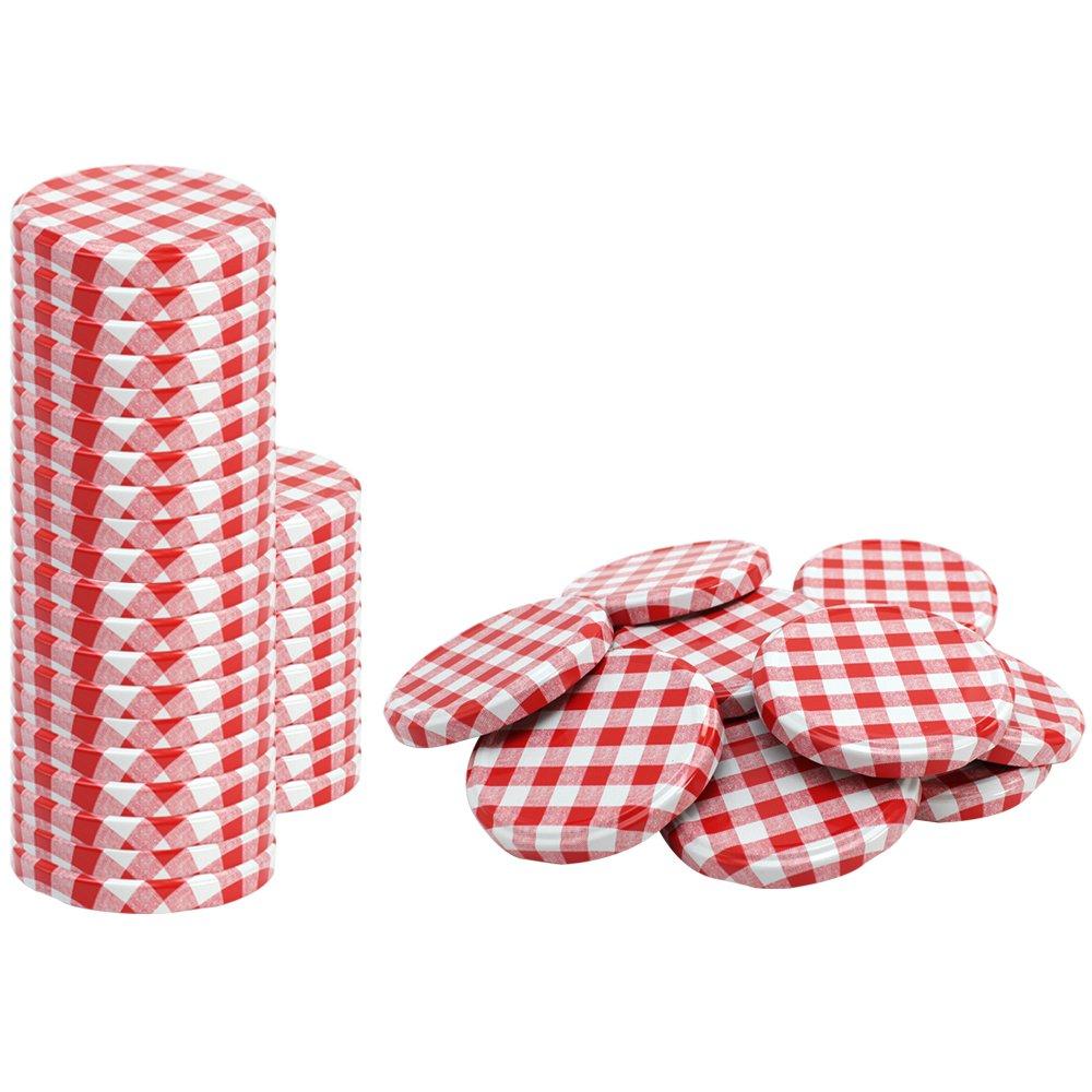 TO 82 mm COM-FOUR/® 20x Couvercle de rechangeFruit pour pots de confiture couvercle /à vis pour gobelets et bocaux de conservation 0020 pi/èces - TO 82 mm Fruit Mix 1